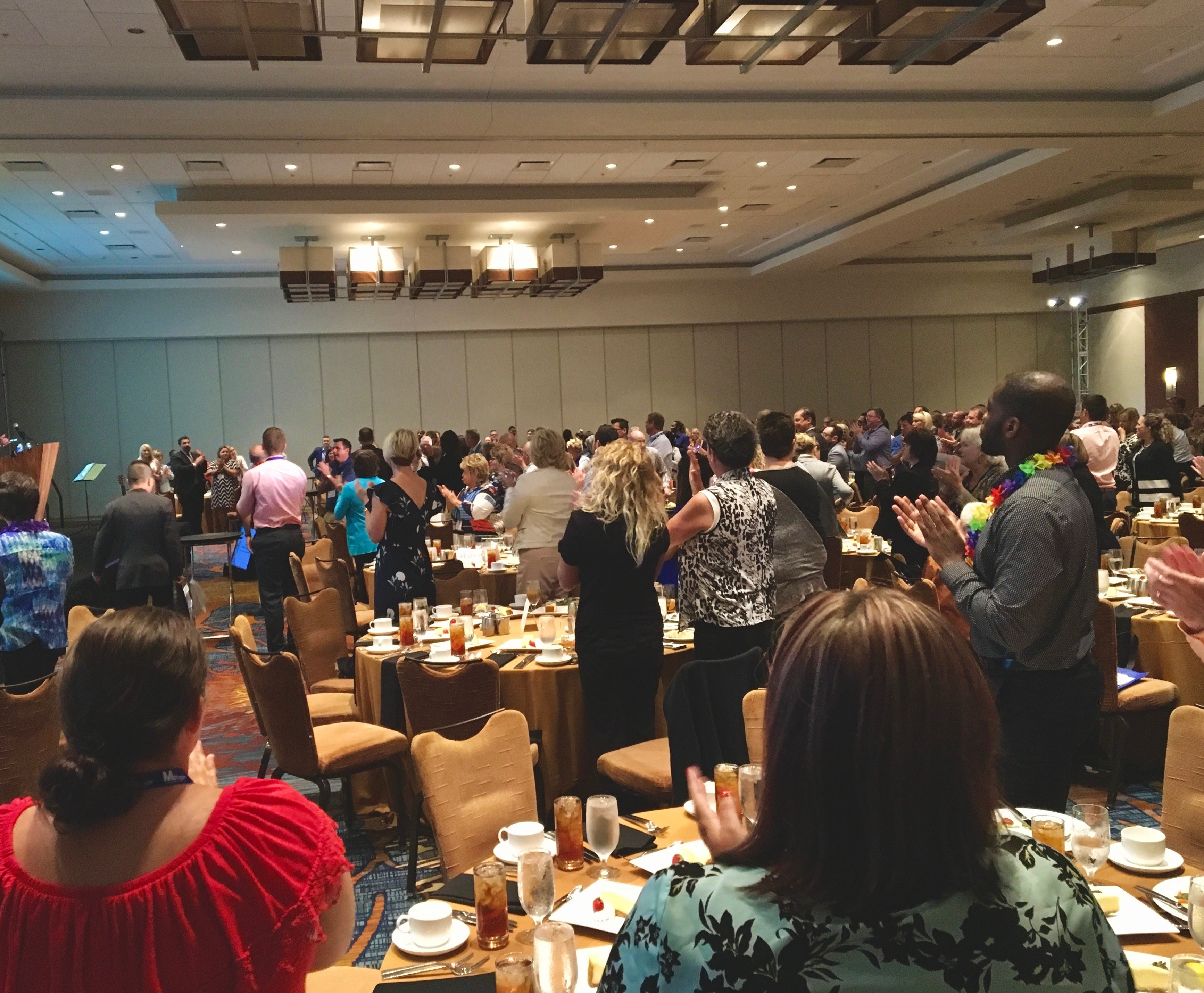 Funny motivational speaker Amy Dee Another standing Ovation