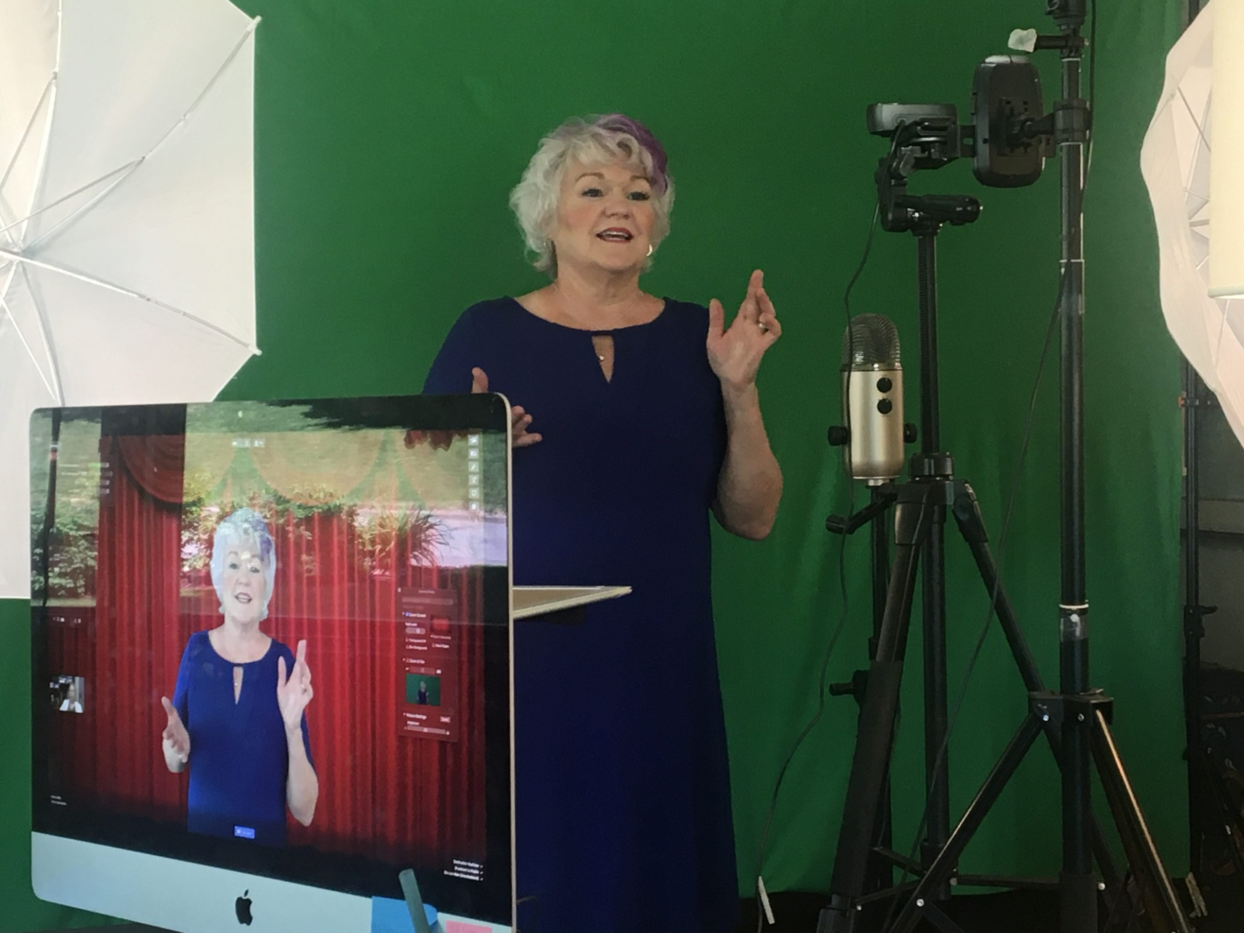 Funny Motivational Speaker Amy Dee's Virtual Studio
